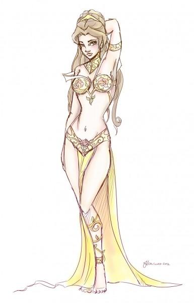 18) slave_leia_belle_design_sketch_by_noflutter-d54mcj3