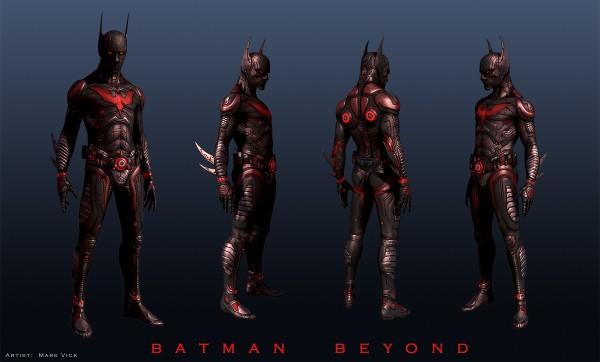 Concept art for potential Batman Beyond movie.