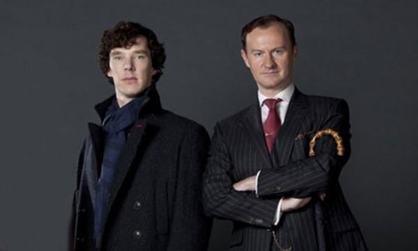 "Gatiss as ""Mycroft"" from the hit show - Sherlock."