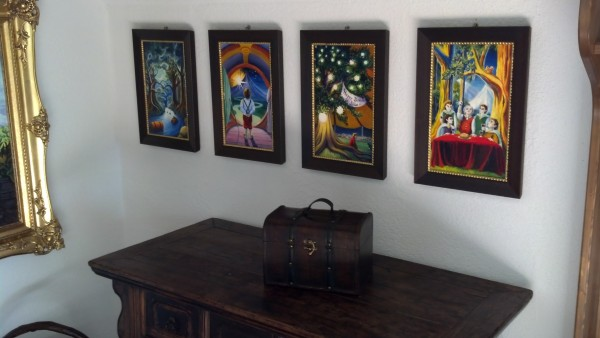 Jef Murray originals in Bilbo's foyer!