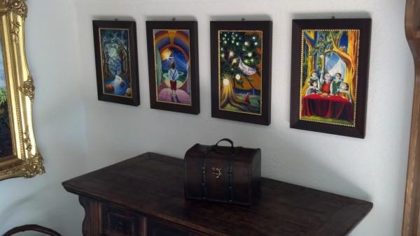 Jef Murray originals in Bilbo's foyer!
