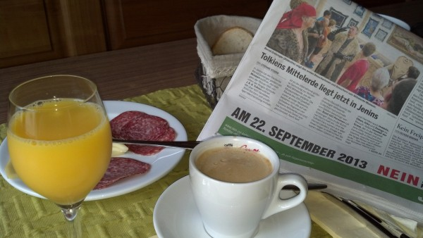 Nothing like reading of Mitterlande in the headlines while enjoying a breakfast of champions!