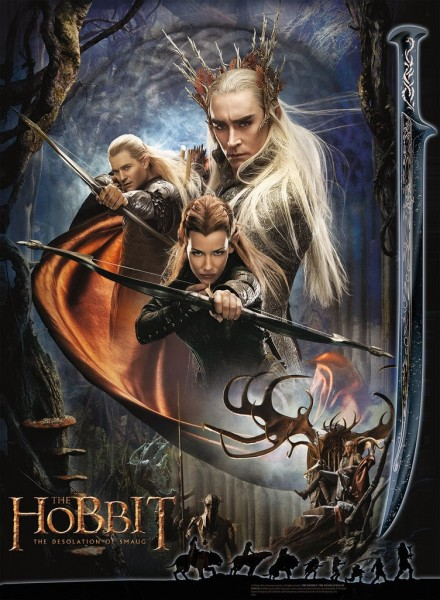 THE HOBBIT: The Desolation of Smaug: ©WBEI ™ Middle-earth Ent. Lic. to New Line. (s13) stated.