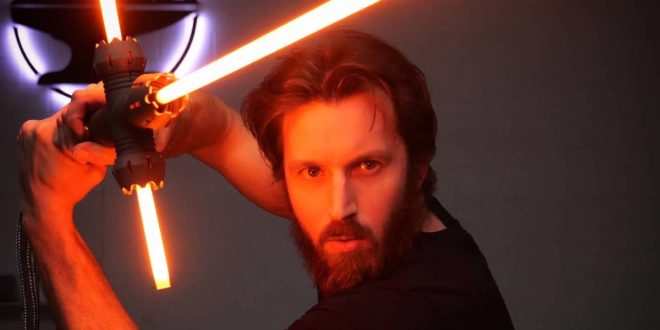 The Hacksmith real lightsaber, article on The Fantasy Network News
